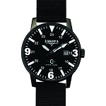 Dakota Steel, Black Dial, Black Nylon Band