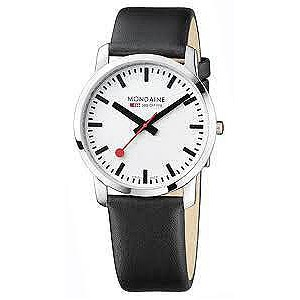 Simply Elegant Gents - White Dial Black Strap