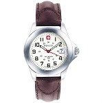 Field Century, White Dial, Brown Leather Strap
