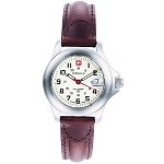Field Century, White Dial, Brown Leather Strap, Ladies