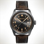 Szanto Series 2200<br />Leather Strap - Black with Gray Stitching