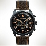 Szanto Series 2200<br />Leather Strap - Black with Orange Stitching