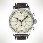 Szanto Series 2600<br />Leather Strap - Black with Cream Stitching