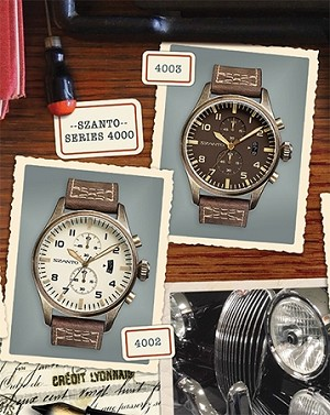 Szanto Series 4000<br />Leather Strap - Dark Brown